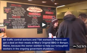 Maine BBQ restaurant offering discount to furloughed workers