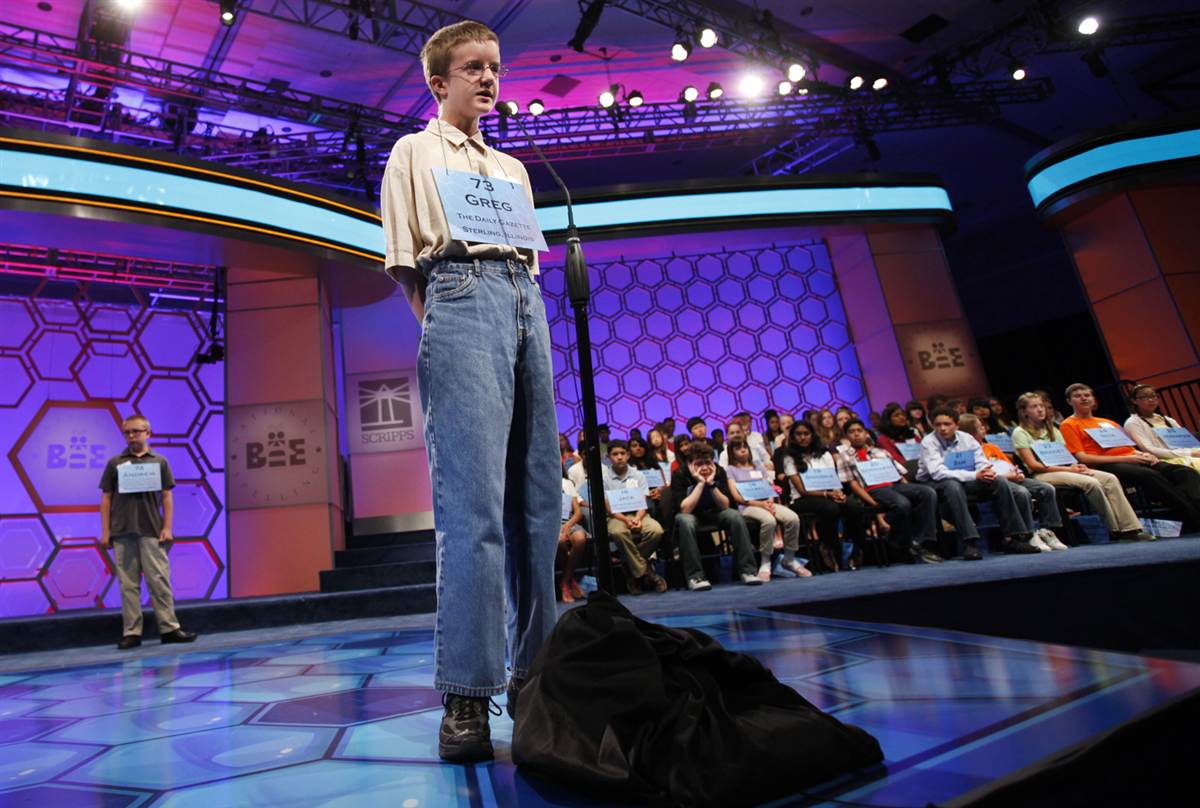 Ill., competes in the 2012 Scripps National Spelling Bee competition