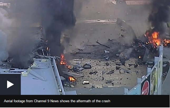 Melbourne plane crash: Five killed as aircraft hits shopping centre