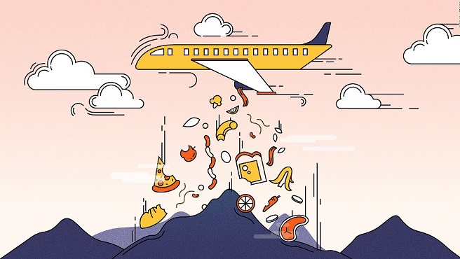 Watch your waste: The problem with airline food and packaging
