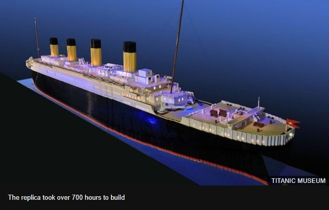 Autistic teens Lego Titanic replica on display in US