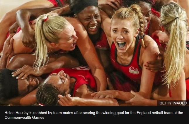 Netball winner jokes that praise from Beckham better than gold