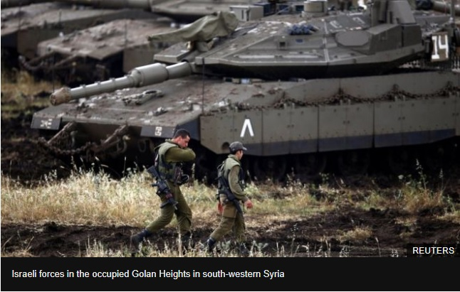 Israel strikes Iranian targets in Syria after rockets hit Golan Heights