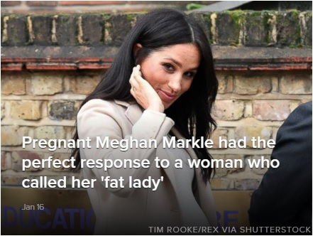 Pregnant Meghan Markle had the perfect response to a woman who called her a fat lady