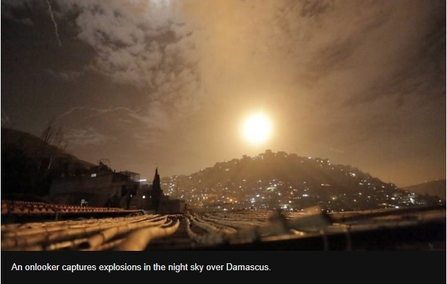 Israel hits Iranian and Syrian targets around Damascus - military