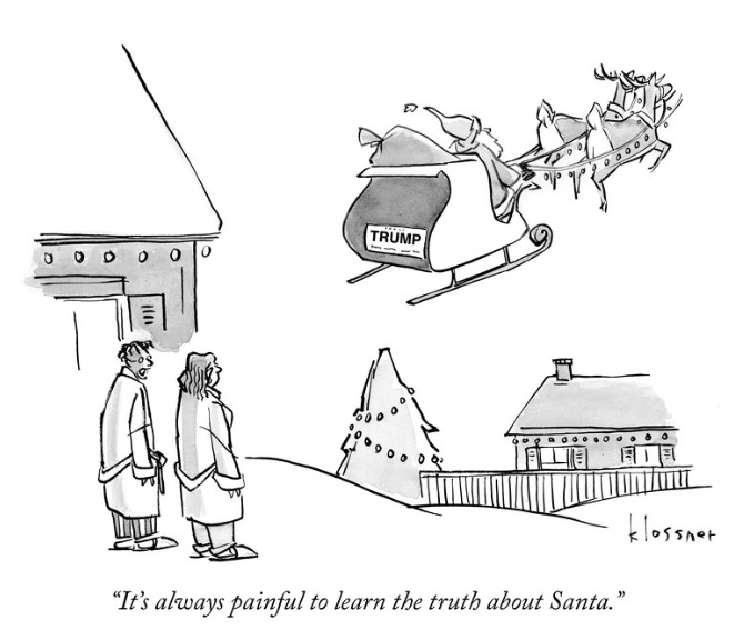 Its always painful to learn the truth about Santa