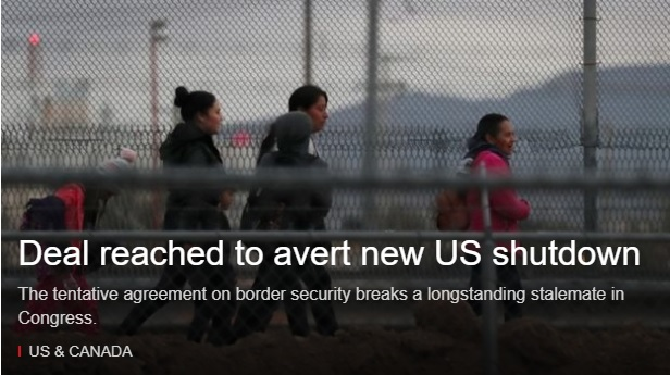 US border security deal reached to avert new US shutdown
