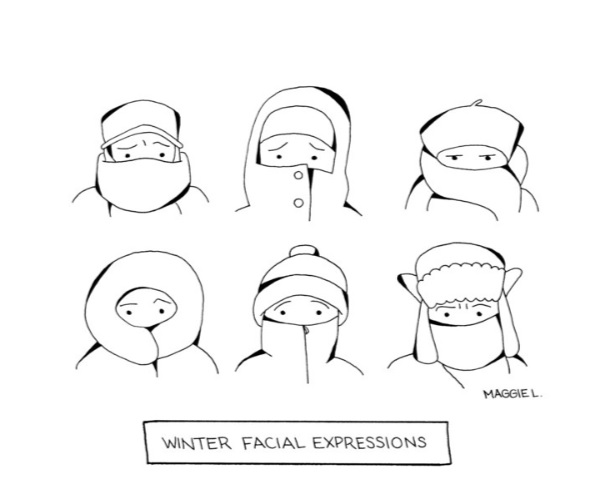 WINTER FACIAL EXPRESSIONS