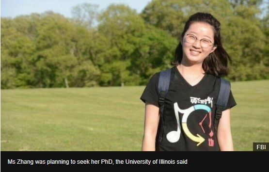 Yingying Zhang: US man convicted of Chinese students death