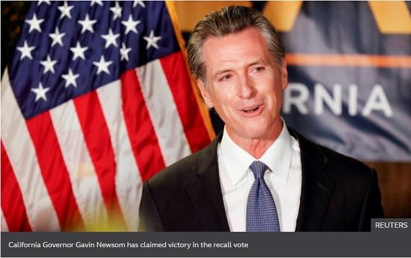 California recall: Democratic governor survives bid to oust him - US media