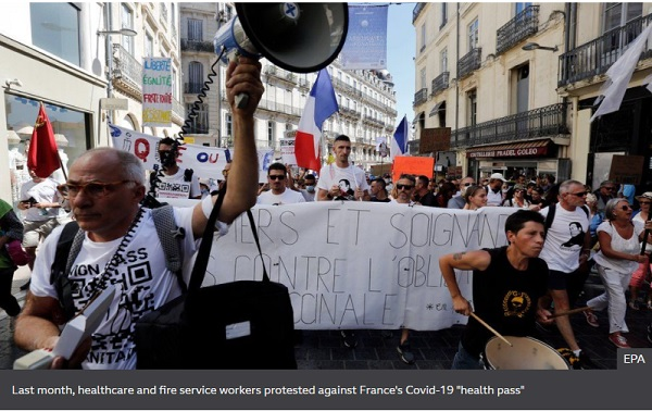 Covid-19: France suspends 3,000 unvaccinated health workers