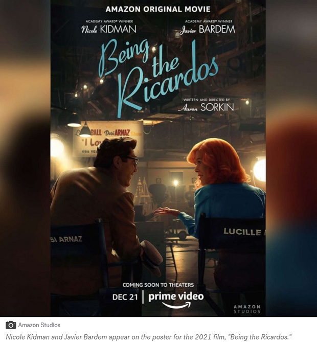 Watch Nicole Kidman and Javier Bardem as Lucille Ball and Desi Arnaz in Being the Ricardos trailer